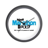 Half Marathon Daddy Peace Qui Wall Clock