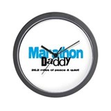 Marathon Daddy Peace Quiet Wall Clock