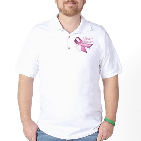 Floral Breast Cancer Golf Shirt