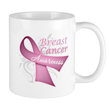 Floral Breast Cancer Mug