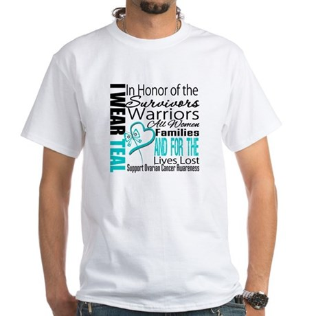 IWearTeal TributeRibbon White T-Shirt