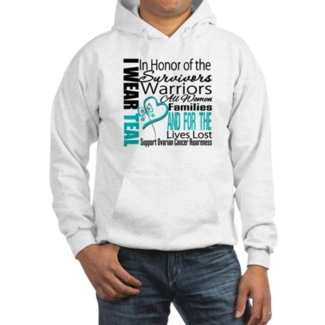 IWearTeal TributeRibbon Hooded Sweatshirt
