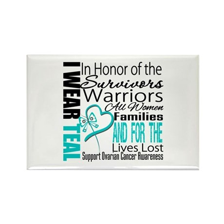 IWearTeal TributeRibbon Rectangle Magnet (10 pack)