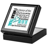 IWearTeal TributeRibbon Keepsake Box