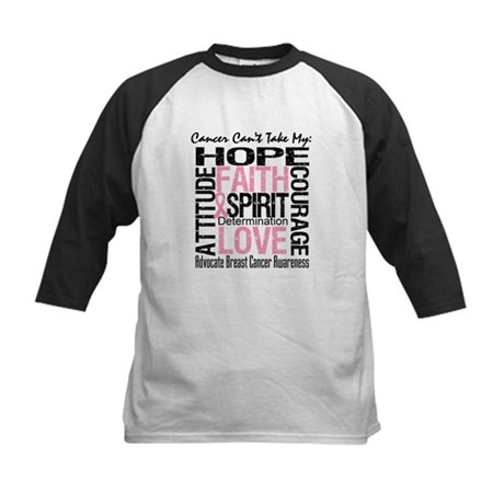 BreastCancer CantTakeHope Kids Baseball Jersey