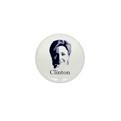 Hillary Clinton Portrait Mini Button (100 pack)