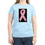 Breast Cancer Ribbon Art Women's Light T-Shirt