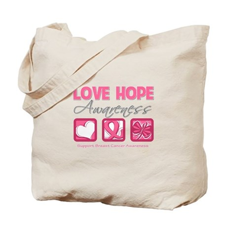 BreastCancer LoveHope Tote Bag