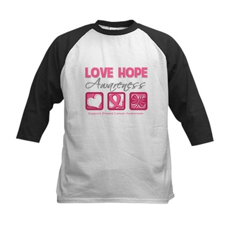 BreastCancer LoveHope Kids Baseball Jersey