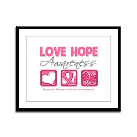 BreastCancer LoveHope Framed Panel Print