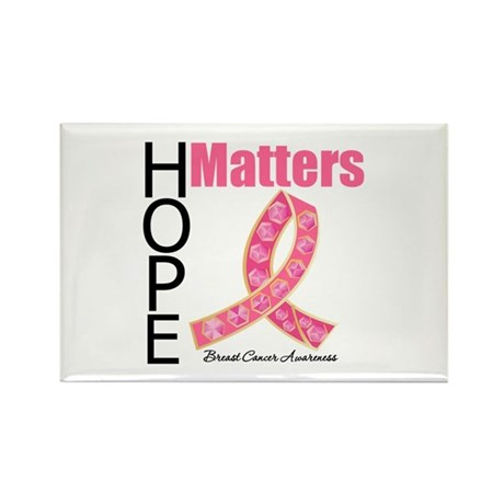 HopeMatters BreastCancer Rectangle Magnet