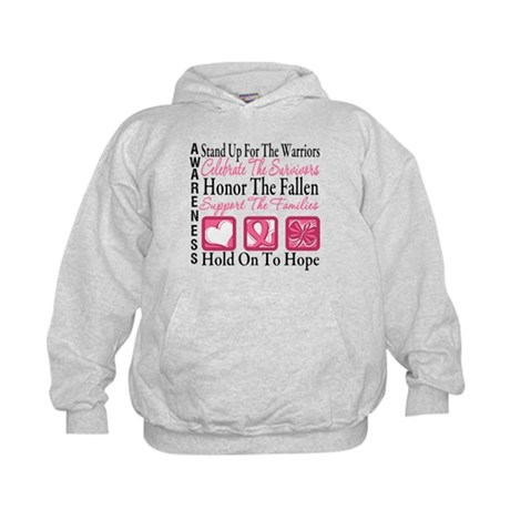 Breast Cancer StandUp Kids Hoodie