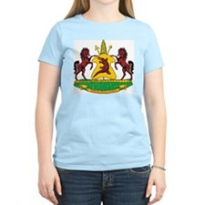 Lesotho Coat Of Arms Women's Pink T-Shirt