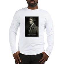 Edmund Burke: Good & Evil Long Sleeve T-Shirt