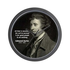 Edmund Burke: Good & Evil Wall Clock