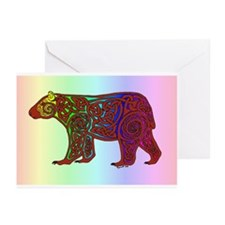 Rainbow Celtic Bear Greeting Cards (Pk of 10)