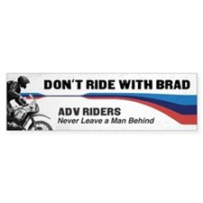 Funny Riding Bumper Sticker