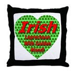 Irish Leprechaun With Golden Throw Pillow