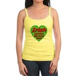 Irish Leprechaun With Golden Jr. Spaghetti Tank