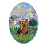 Angel-Star - Yorkshire Terrier #7 Ornament (Oval)