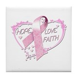 Hope Love Faith Tile Coaster