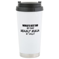 Deadly Ninja - World's Best Dad Ceramic Travel Mug