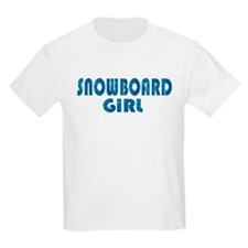 Snowboard Girl Kids T-Shirt