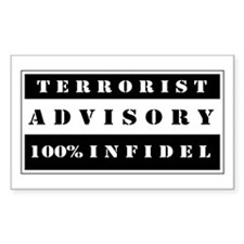 Terrorist Advisory Decal