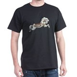 White Jumper Carousel Black T-Shirt