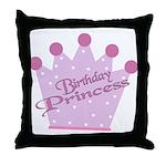Birthday Princess Throw Pillow