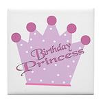 Birthday Princess Tile Coaster