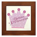 Birthday Princess Framed Tile