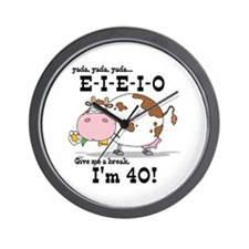 EIEIO 40th Birthday Wall Clock