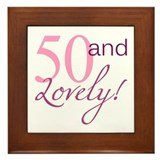 50 And Lovely Framed Tile