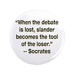 "3.5"" Socrates' quote Button"