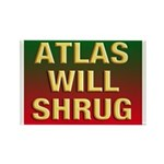 Atlas Will Shrug Rectangle Magnet