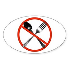 No Utensils Oval Decal