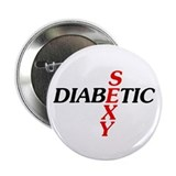 "Sexy Diabetic 2.25"" Button (10 pack)"