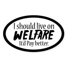 Welfare Oval Decal