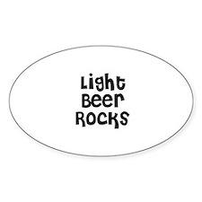 Light Beer Rocks Oval Decal