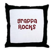 Grappa Rocks Throw Pillow