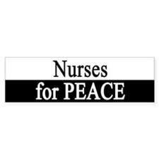 Nurses for Peace Bumper Bumper Sticker