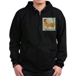 Minorca Rooster #2 Zip Hoodie (dark)