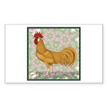 Minorca Rooster #2 Sticker (Rectangle)