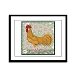 Minorca Rooster #2 Framed Panel Print