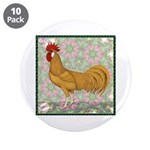 "Minorca Rooster #2 3.5"" Button (10 pack)"