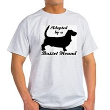 ADOPTED by Basset Hound T-Shirt