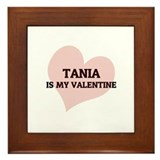 Tania Is My Valentine Framed Tile