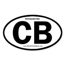Chesapeake Bay Oval Decal