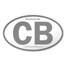 Chesapeake Bay Oval Stickers